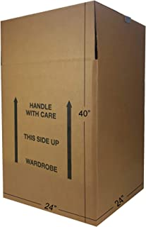 "Uboxes BOXMINIWAR06 Shorty Space Saving Wardrobe Moving Boxes (Bundle of 6) 20"" x 20"" x 34"" Moving Boxes"