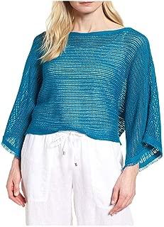 Jewel Organic Linen Knit Mesh Bateau Neck Top Size X-Large