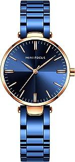 MINI FOCUS Women's Luxury Simple Quartz Watches Retro Waterproof Wristwatch for Lady Woman