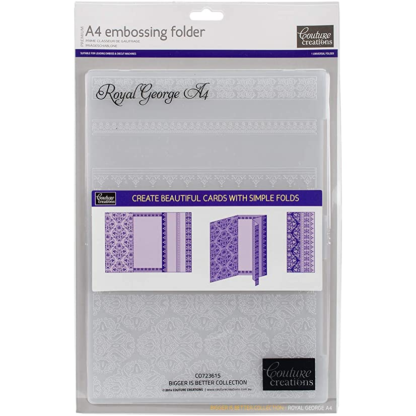 Artdeco Creations Royal George Couture Creations Embossing Folder A4