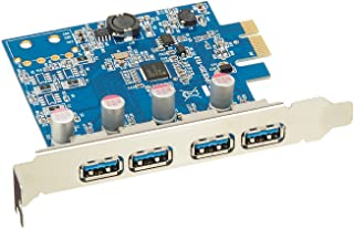 VisionTek Products Four Port USB 3.0 x1 PCIe Internal Card for PCs and Servers - 900870