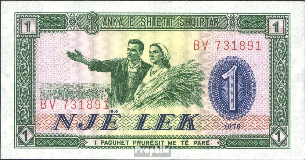 Prophila Billetes para coleccionistas: Albania Pick-No.: 40a UNC 1976 1 Lek: Amazon.es: Oficina y papelería
