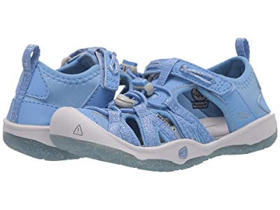 Keen Kids Moxie Sandal (Toddler/Little Kid) (Della Blue/Vapor) Girl
