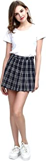 Fashion World Women High-Waist Pleated Mini Skirt with Soft Shorts Underneath