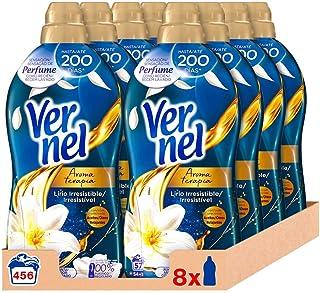 comprar comparacion Vernel Suavizante Lavadora Aromaterapia Aceite de Jazmín y Lirio 57 Dosis - Pack de 8: Total 456 Lavados (10.4 L)