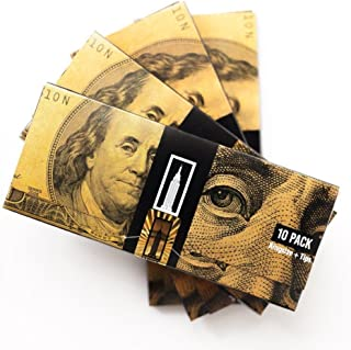 EMPIRE ROLLING - Four Pack Wallets $100 Bill Rolling Paper (40 Papers) - BENNY1 3/4 Inches | Made from Pure All Natural Ingredients | Premium Quality Paper, Organic, 100% Vegan, Non-GMO, Unbleached