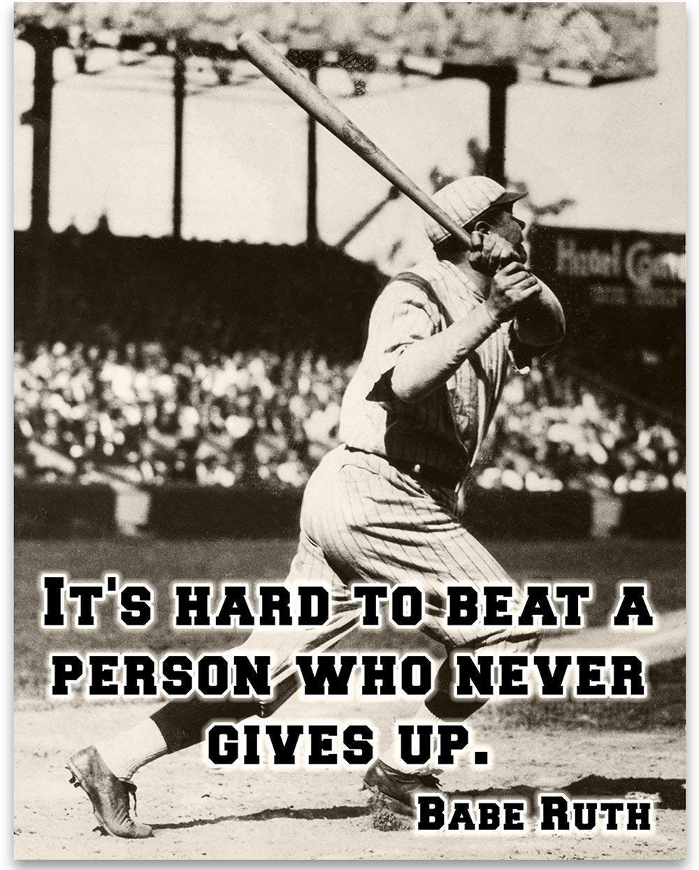 Babe Ruth - It's Hard 11x14 Boy's Great Max Our shop OFFers the best service 82% OFF G Print Art Unframed
