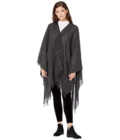 Eileen Fisher Grid Serape (Charcoal) Women