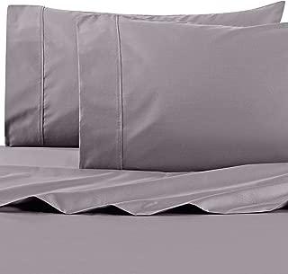 Wamsutta 625-Thread Count PimaCott Queen Sheet Set in Charcoal Grey