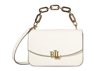 LAUREN Ralph Lauren Elmswood Classic Pebble Madison 22 Crossbody Medium (Vanilla) Handbags