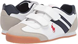 White Smooth/Light Grey Microsuede/Navy/Red Pony Player