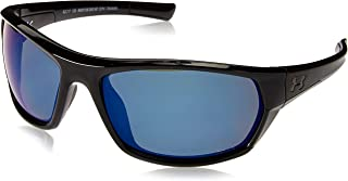 Under Armour Wrap Sunglasses, UA POWERBRAKE Gloss Black/Offshore Polarized, M/L
