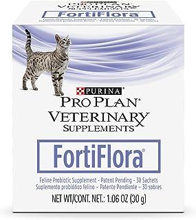 Purina FortiFlora Cat Probiotic Powder Supplement, Pro Plan Veterinary Supplements Probiotic Cat Supplement – 30 ct. box