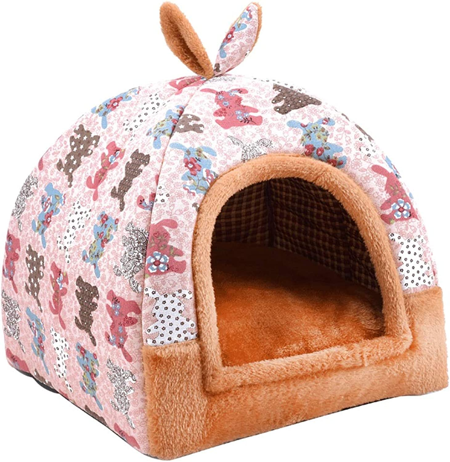 Pet house Cat nest kennel Small dog Closed type pet nest Pet mat Pet bed Warm cosy Two usage Four seasons available (color   A, Size   42  42  43)