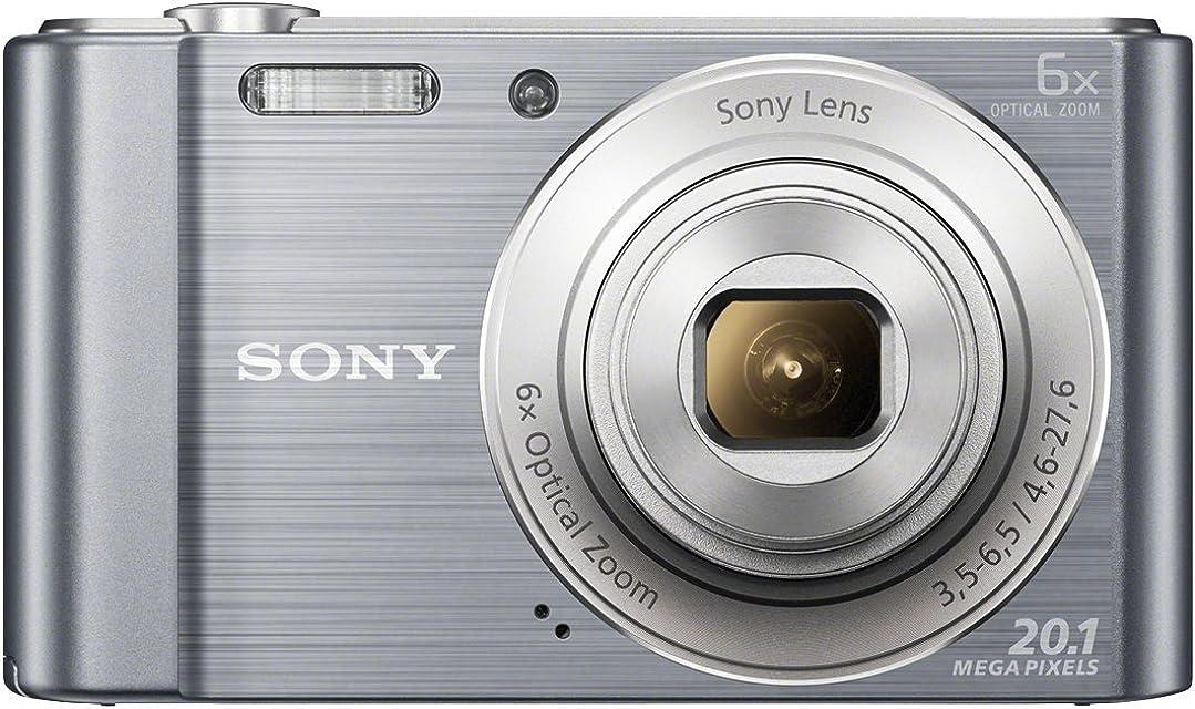 Sony DSC-W810 - Cámara compacta de 20.1 Mp (pantalla de 2.7 zoom óptico 6x estabilizador digital) plateado