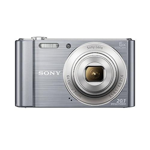 Sony DSC-W810 Fotocamera Digitale Compatta Cyber-shot, Sensore Super HAD CCD da 20,1 Megapixel, Obiettivo Sony con Zoom Ottico 6x, Argento