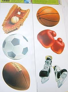 Main Street Wall Creations Jumbo Stickers - Sports (2 Sheets)