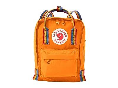 Fjallraven Kanken Rainbow Mini (Burnt Orange/Rainbow Pattern) Backpack Bags