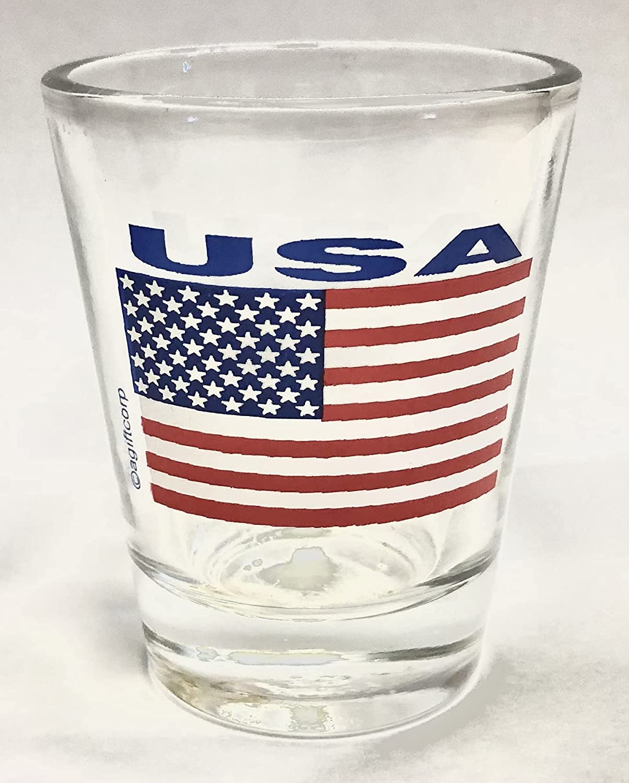 Department store USA Flag Shot Save money Glass