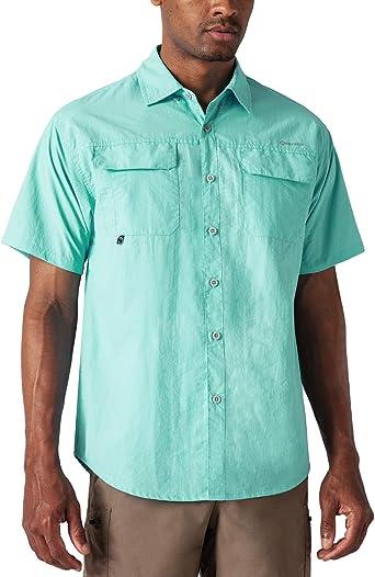 NAVISKIN Camisa Casual de Manga Corta Protección UV UPF 50 para Hombre Camiseta Deporte Térmica Pesca Acampada Campismo Senderismo Marcha Ligero ...