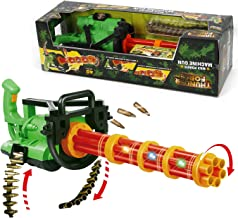 Liberty Imports Max Power Motorized 32 inches Gatling Machine Gun Toy with Ejecting Bullets, Realistic Lights and Sounds