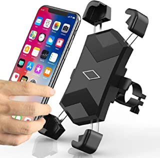 Niluoya Handyhalterung Fahrrad, 360° Drehbar Universal Smartphone Halterung Fahrrad Motorrad Handyhalter, Anti Shake Handy Fahrradhalterung für iPhone, Samsung Galaxy, Huawei, 4,5 7,2 Zoll