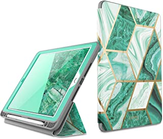 i-Blason Cosmo Case for New iPad 7th Generation, iPad 10.2 2019 Case, Full-Body Trifold with Built-in Screen Protector Protective Smart Cover with Auto Sleep/Wake & Pencil Holder (Prasio)