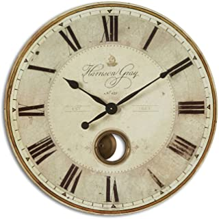 Uttermost Harrison Gray 30-Inch Wall Clock