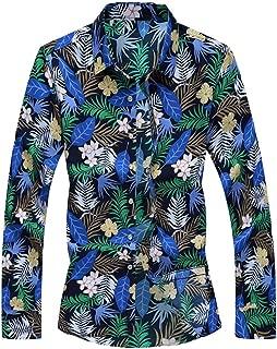Slim-Fit Poplin Shirt,Londony 🍁 Mens Hipster Printed Slim Fit Short/Long Sleeve Dress Shirts/Prom Performing Shirts