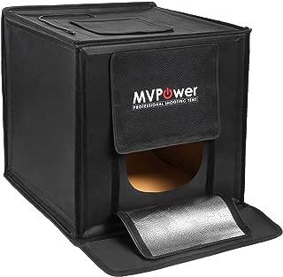 MVPower Photo Studio Box - 16x16 Portable Photography Shooting 120 LEDs Folding Photo Studio with 4 Backdrops Professional Light Box (White Black Orange Green) for Photography, Product Advertising