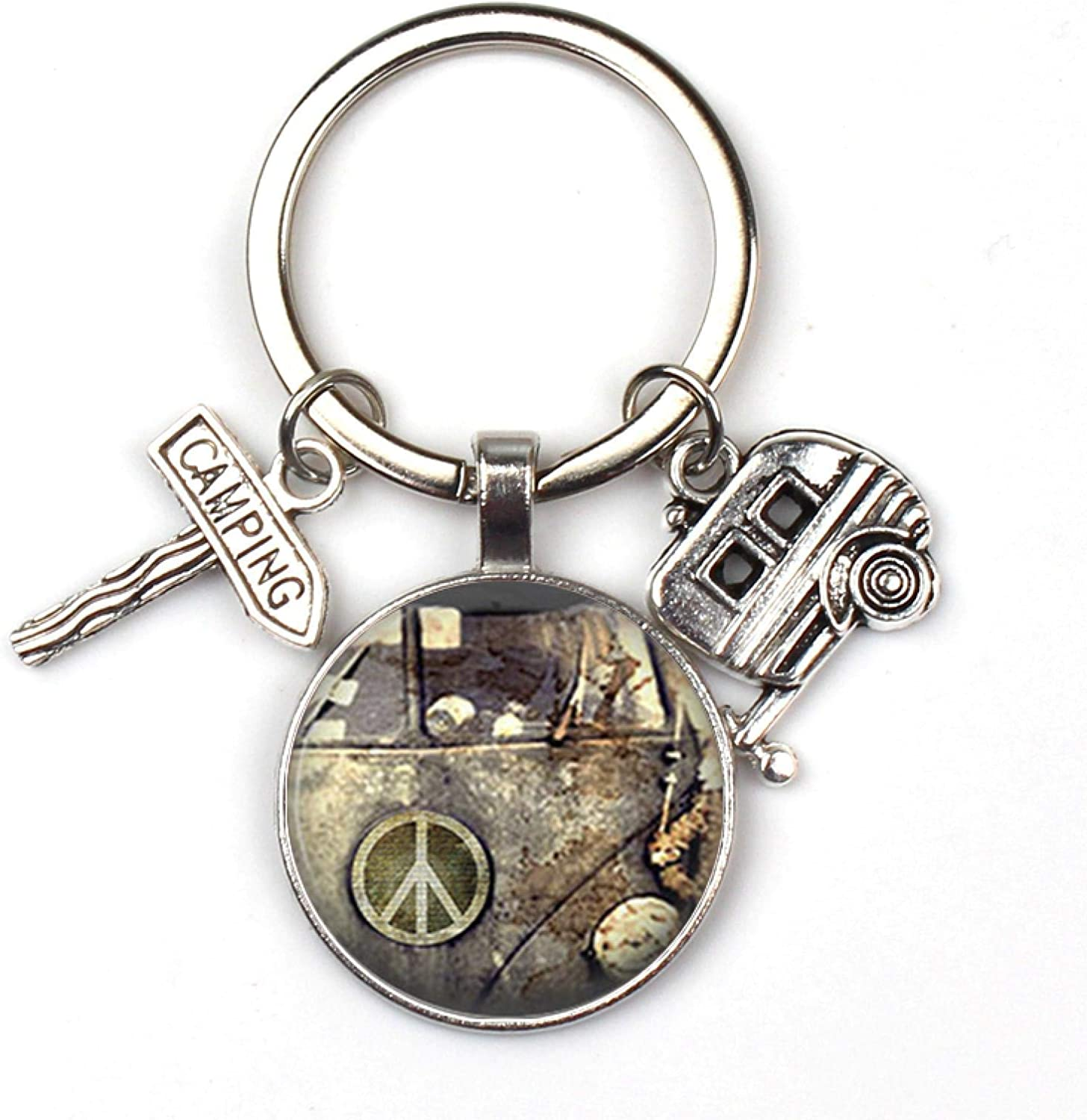 YMJSU Key New York Mall Holder Souvenir In a popularity for Gift Va Sign Vintage Hippie Peace