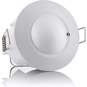Alcance 6m//360/° Sebson/® 2X Detector de Movimiento empotrable Sensor de Infrarrojos programable Montaje en Techo LED Adecuado orientable Interior