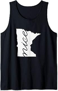 Minnesota is Nice. A Minnesota MN Pride Graphic Design Tank Top