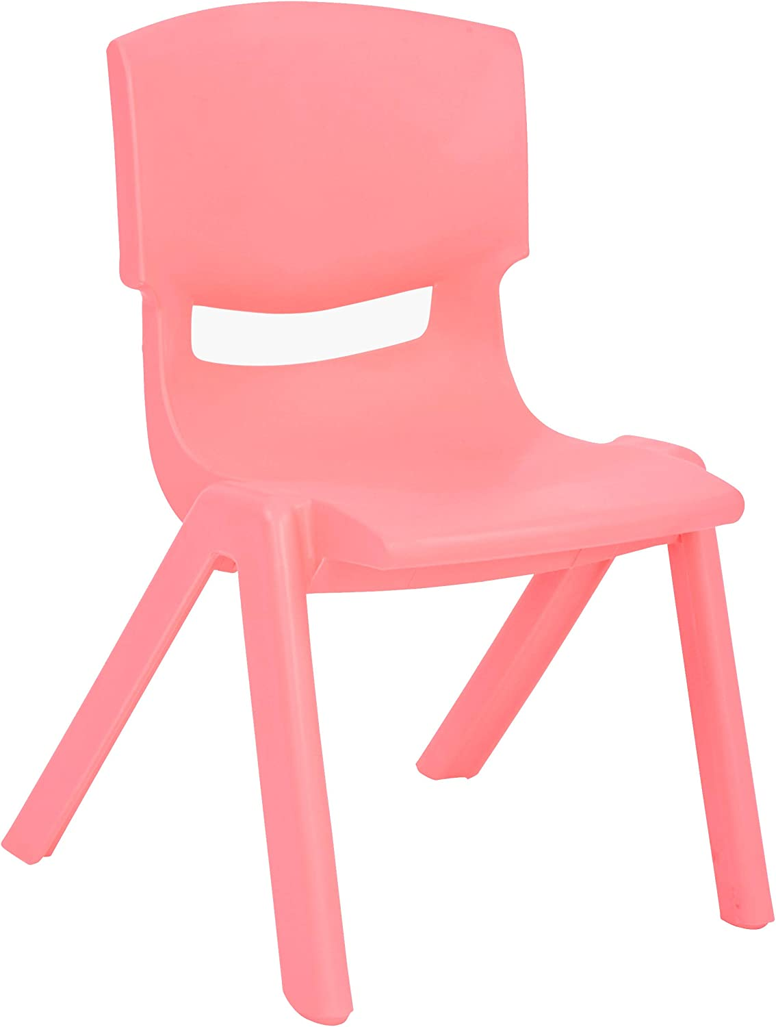 JOON Stackable Plastic Kids Learning Chairs, 20.8x12.5 Inches, The Perfect Chair for Playrooms, Schools, Daycares and Home (Pink)