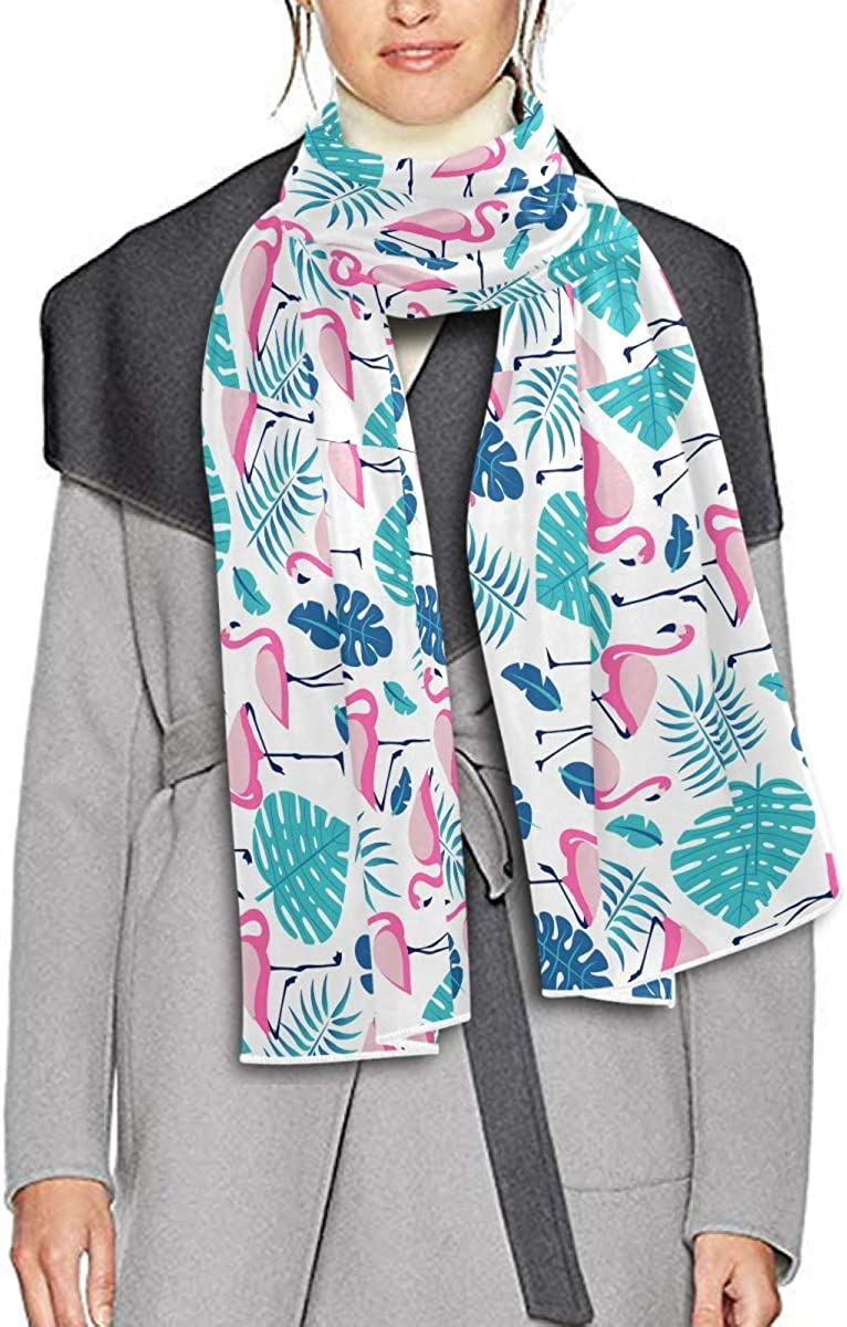 Scarf for Women and Men Flamingos Plants Blanket Shawl Scarf wraps Soft warm Winter Oversized Scarves Lightweight