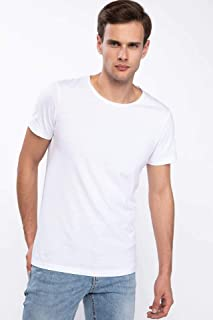 DeFacto Erkek Tişört Slim Fit Basic T-shirt