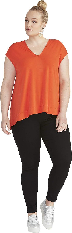 RACHEL Rachel Roy Women's Plus Size Bina Cropped V-Neck Top