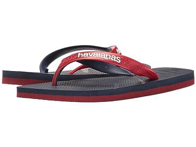 Havaianas Casual Flip Flops (Navy Blue/Red) Men