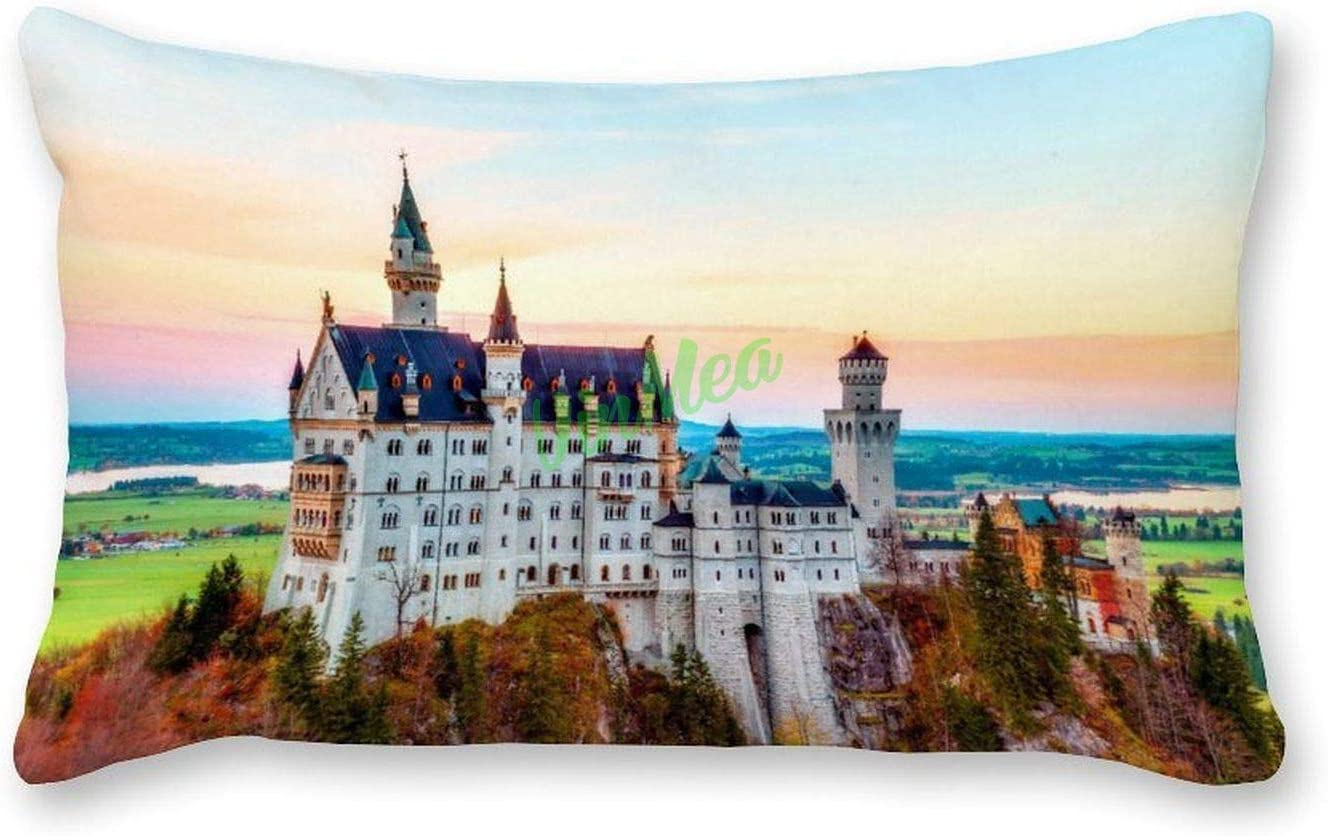 VinMea Inventory Superior cleanup selling sale Decorative Lumbar Pillow Covers Outdoor Ca Neuschwanstein