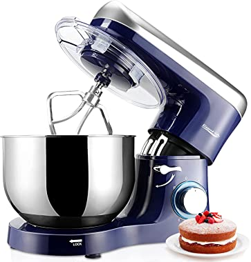 Elegant Life Stand Mixer, 6QT 6-Speed Tilt-Head Food Mixer, 660W Kitchen Electric Mixer with Dough Hook, Wire Whip, Beater &a