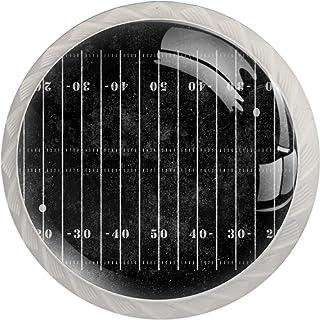 Poignées de Tiroir pour armoire,tiroir,coffre,commode,etc.. Terrain de football américain sombre