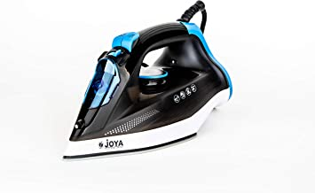 Joya Steam Iron with Ceramic Soleplate (2400W) | Overheat safety protection | Powerful Burst of Steam | Blue & Black