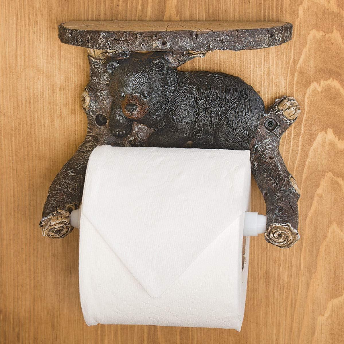 BLACK FOREST Purchase DECOR Sleepy Ranking TOP14 Bear Holder Shelf Toilet Paper