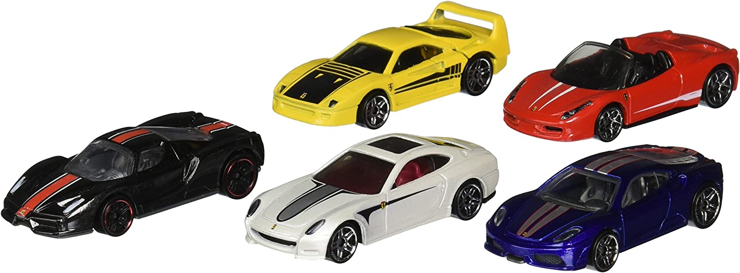 2014 Hot Wheels Ferrari 5 Pack F40   430 Scuderia   612 Scaglietti   458 Spider   Enzo