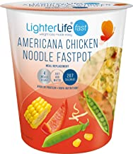 LighterLife Fast Americana Chicken Noodle Fastpot Weight Loss Meal Replacement Meal Pot High in Protein with 25 of RDA Vitamins and Minerals 1 x 55g Serving Tray of 8 Servings
