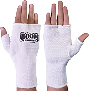 BOOM Prime Boxing Inner Gloves Fist Protector Hand Support Kickboxing Punch Bag Wraps Martial Arts Bandages Injury Pain Muay Thai Fitness Training Mitts