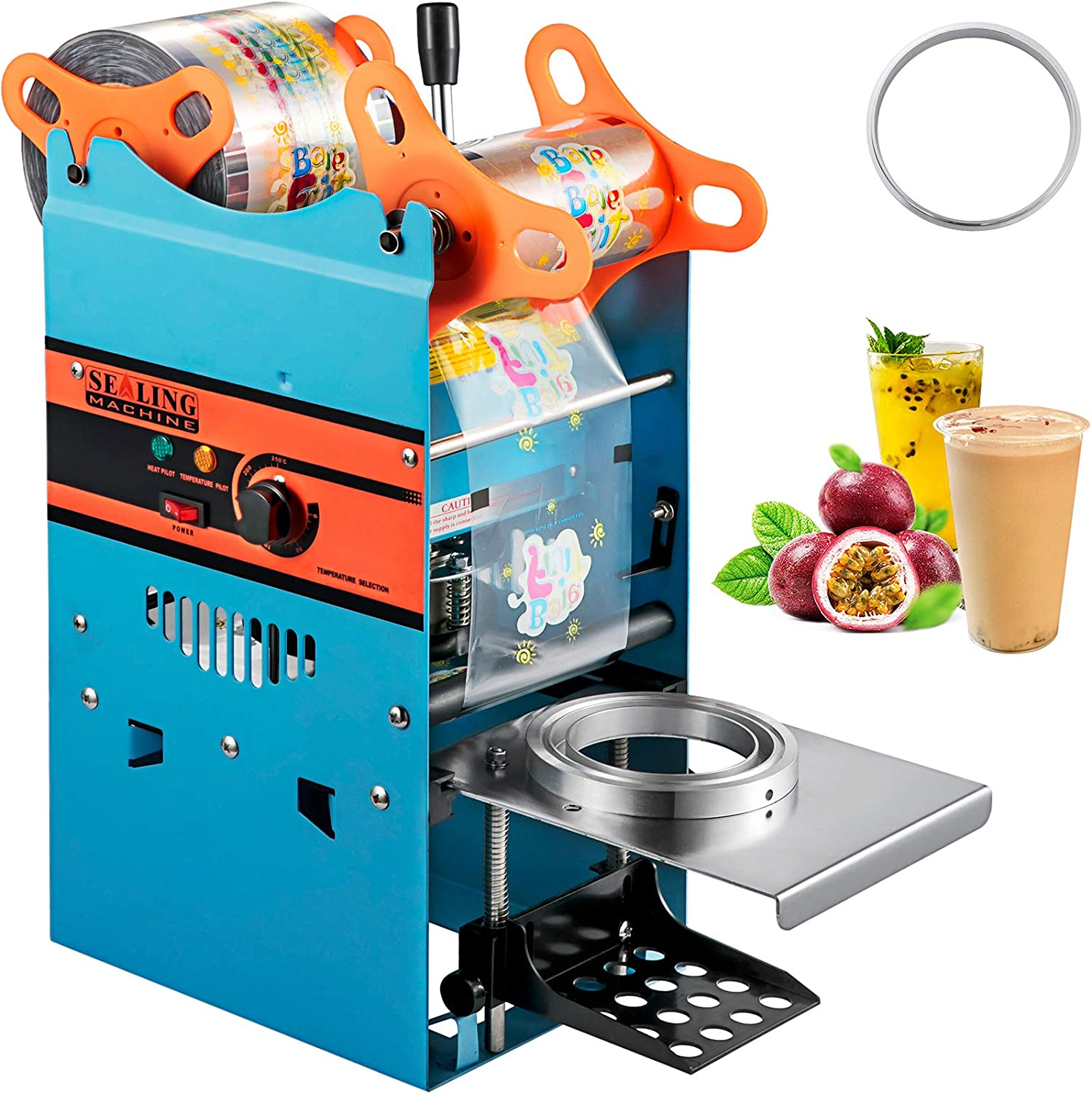 VEVOR Manual Tea Cup Sealer Directly managed store h Machine 300-500 T Boba Sale special price