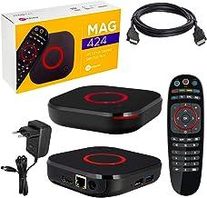 MAG 424 Original Infomir & HB-DIGITAL 4K IPTV Set Top Box Multimedia Player Internet TV IP Receptor # 4K UHD 60FPS 2160p@60 FPS HDMI 2.0 # HEVC H.256 Soportes # ARM Cortex-A53