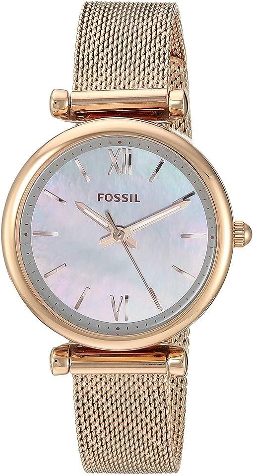 ES4443SET Rose Gold Stainless Steel Mesh Bracelet Set