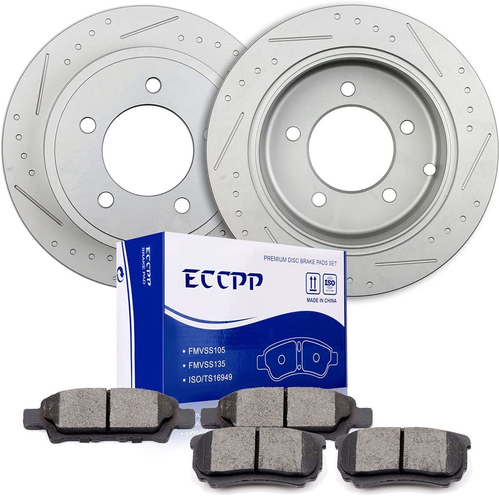 Brakes and Rotors ECCPP Rear Spring new work Mail order cheap Brake Pads Kits Chr fit for